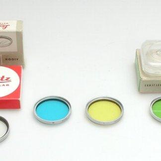 Leitz blauw filter 39mm met chromen rand