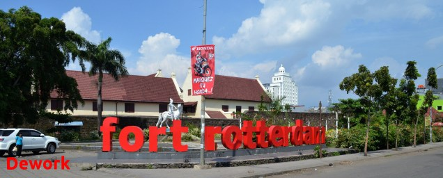 Bagian depan Fort Rotterdam