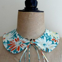 My first sewing project in possibly years?!! A cute vintage collar, made from 1950's cotton fabric!