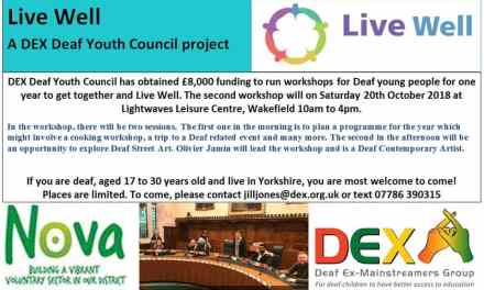 DEX Deaf Youth Council Live Well Project