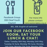 Dates for our lunch time drop ins