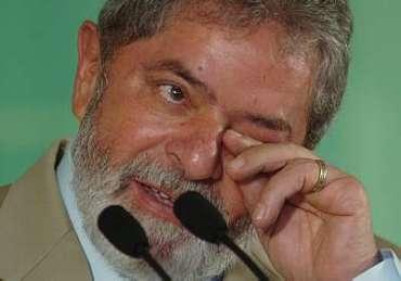 Lula chora