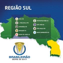 Times - Região Sul - Brasileirão Série D 2017