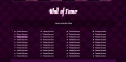 Custom MyFreeCams profile design Jaelyn - Wall of Fame aka Top Tippers