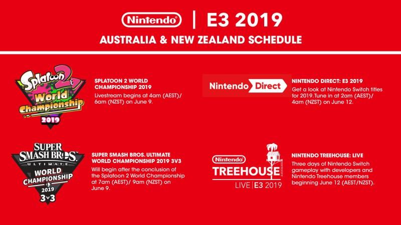 nintendo e3 schedule