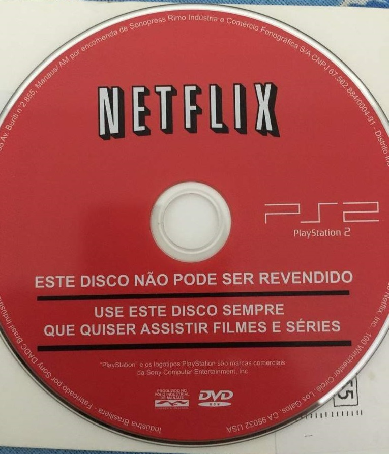 PlaysStation 2 Netflix disc