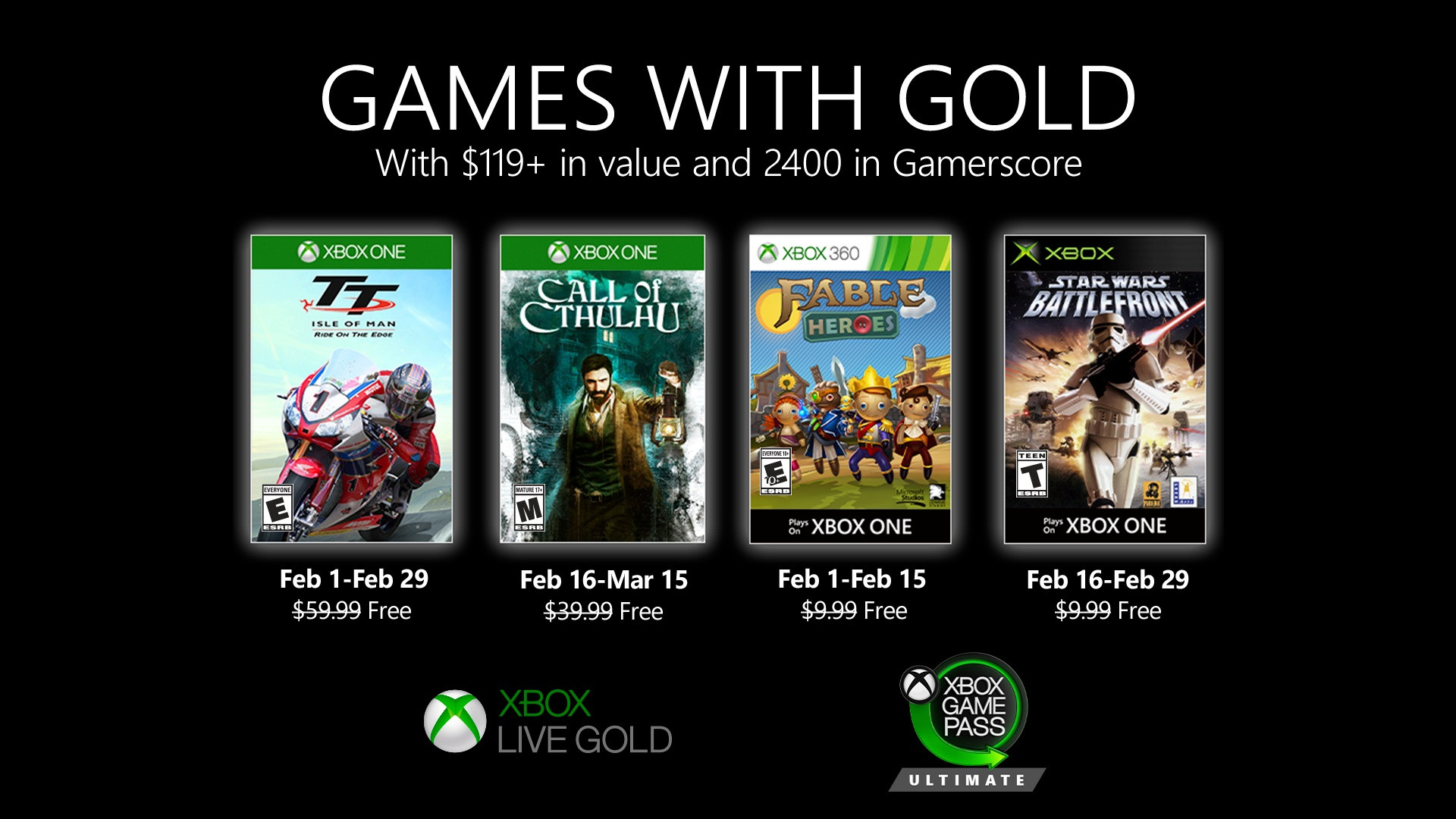 These are the Games with Gold games of February 2020