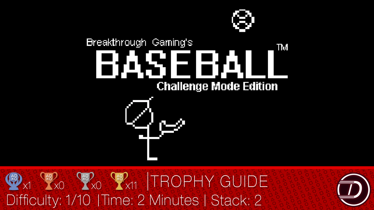 Baseball (Challenge Mode Edition) – Breakthrough Gaming Arcade Trophy Guide