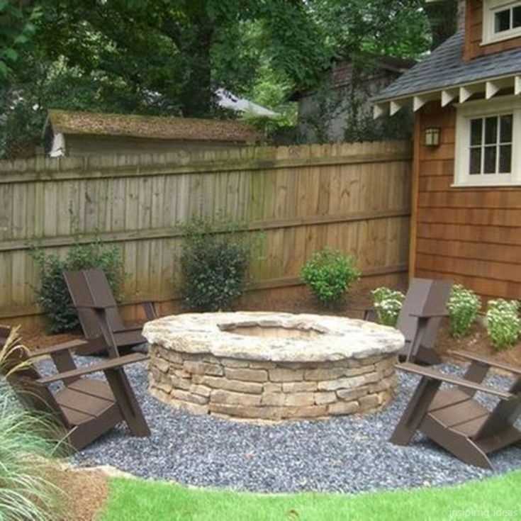Awesome Backyard Fire Pits with Seating Ideas