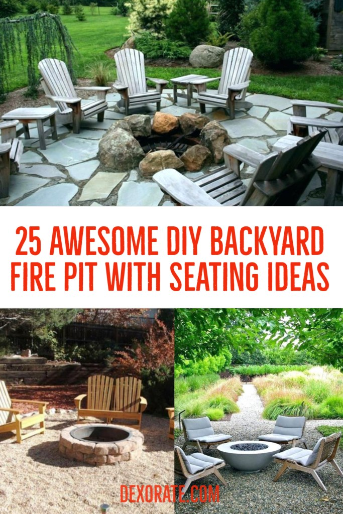 Awesome DIY Backyard Fire Pit With Seating Ideas