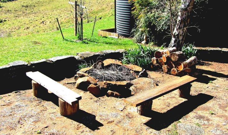 Backyard Fire Pit With Seating Areas