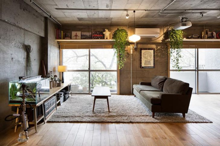 Eclectic Industrial Living Room