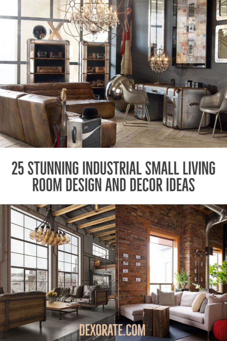 Stunning Industrial Small Living Room Design And Decor Ideas