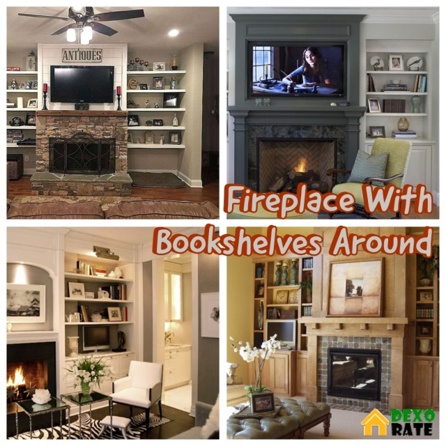 Make Your Fireplace Different Than Others With Bookshelves Decorations 33 Best Pictures Dexorate