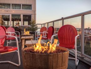 Lovely Roof Top Deck Fire Pit