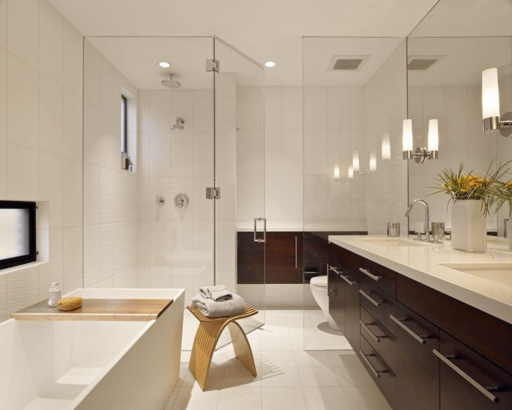 Modern Bathroom Design With Awesome Lighting
