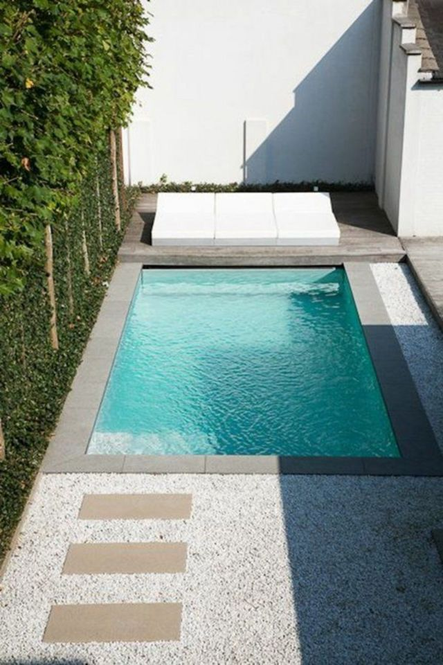 Small plunge pools design idea for Small Backyard