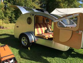 Teardrop Camper with King Size Bed