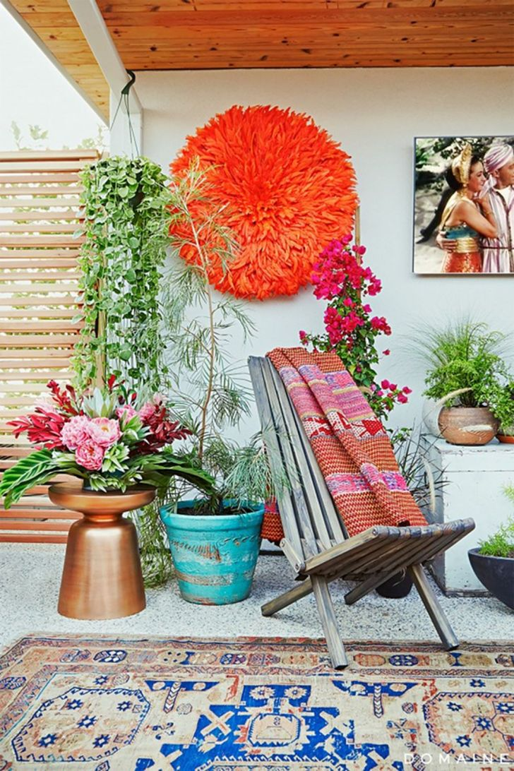 33 Gorgeous Bohemian Outdoor Patio Designs For Cozy ... on Bohemian Patio Ideas id=34253