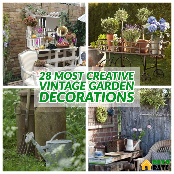 28 Most Creative Vintage Garden Decorations For Your Home Outdoor