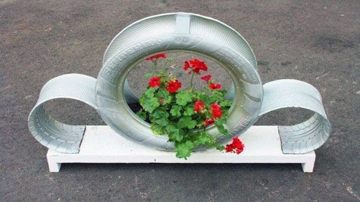 Old Tires Planters Tire Painting Ideas