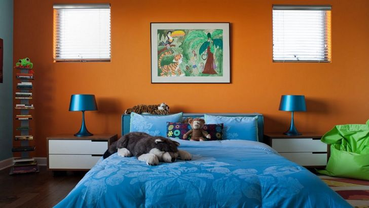 Funky Blue Bedroom Color Ideas
