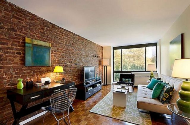 30 Marvelous Living Room Design With Brick Wall Ideas That Will Make You More Comfort Dexorate