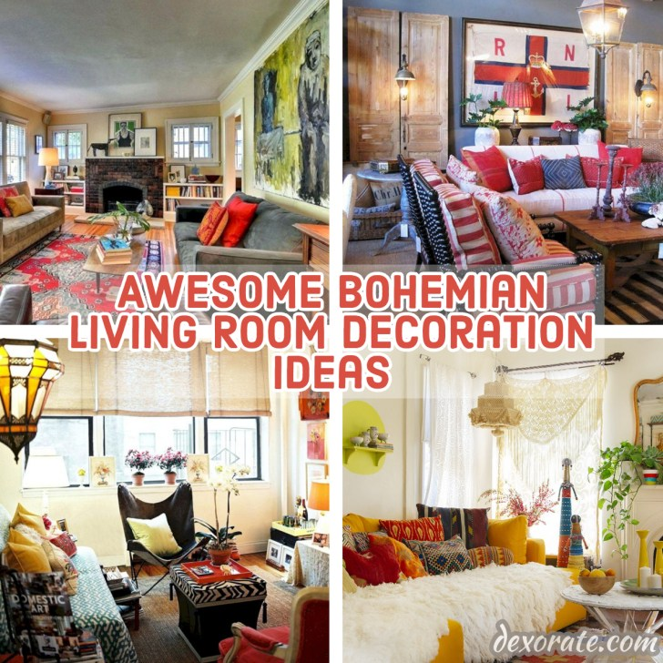 15 Awesome Bohemian Living Room Decoration Ideas - DEXORATE