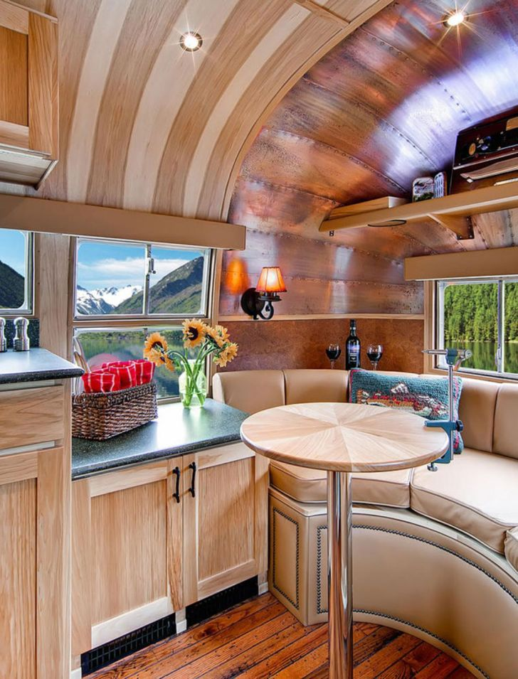 Awesome Vintage Airstream Interior Ideas