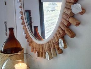 Diy Wine Cork Mirror Frame