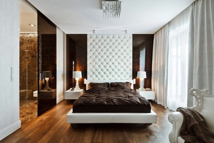 White And Brown Master Bedroom