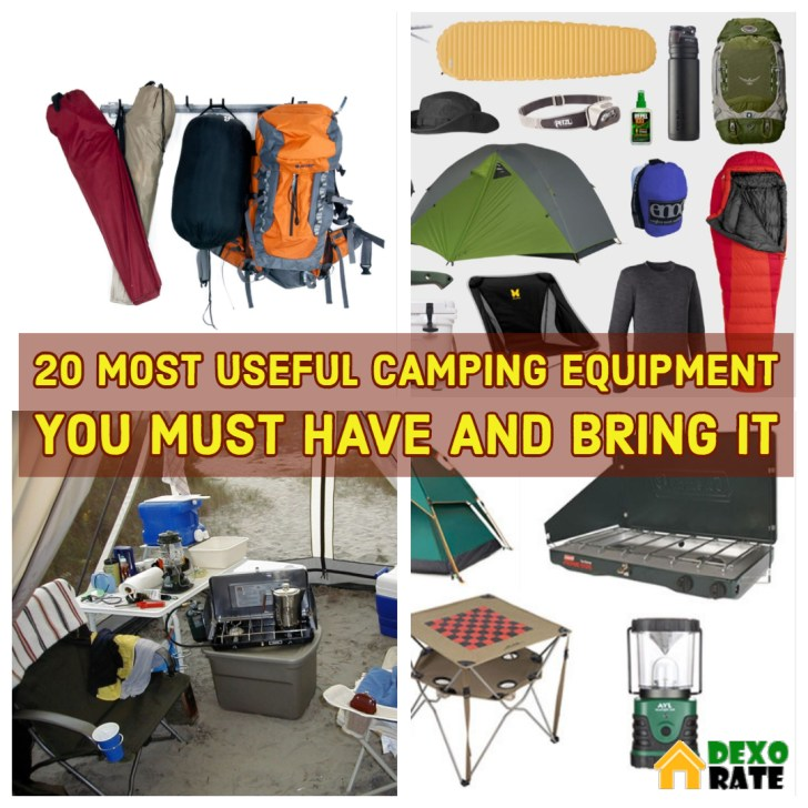 Most Useful Camping Equipment You Must Have And Bring It