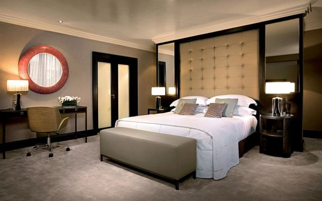 Nice Small Master Bedroom With Modern Bedding