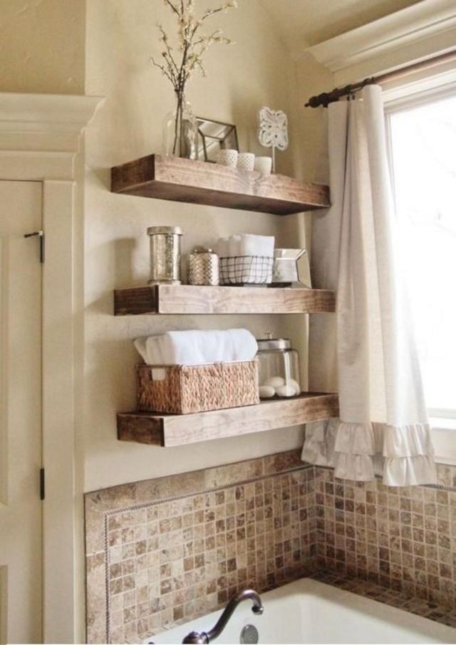 DIY Bathroom Shelves Ideas