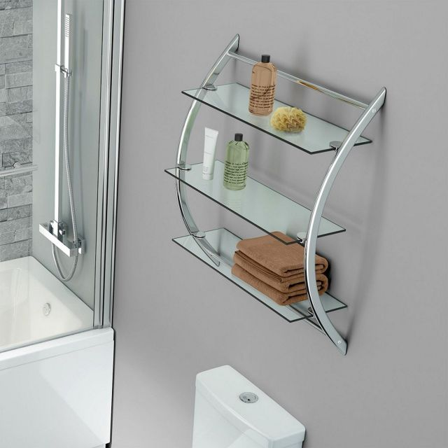 Glass Wall Shelves