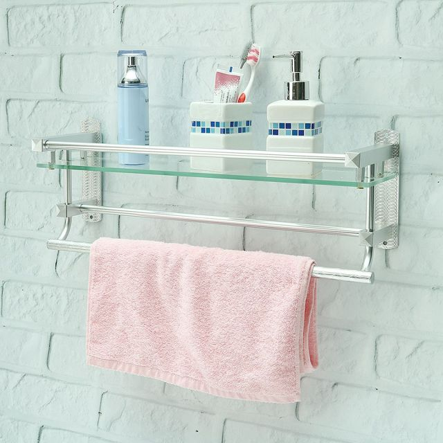 Glass bathroom Shelves Ideas