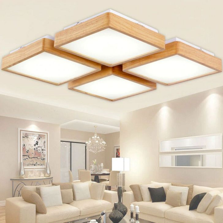Living Room Wooden Ceiling Ideas