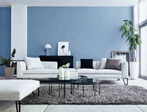 Living Room Blue And White Ideas
