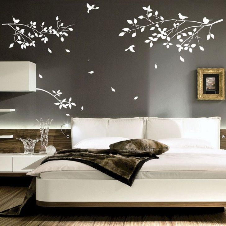 14 Impressive And Comfortable Bedroom Design With Tree Wall Decor Ideas Dexorate,Mid Century Modern Bedroom Furniture Sets