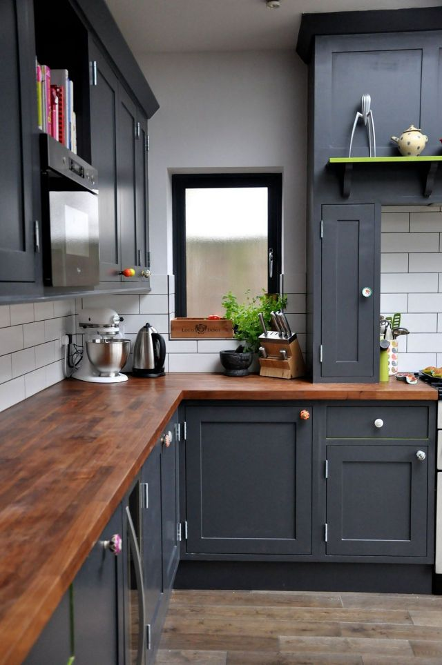Grey Wooden Kitchen Design