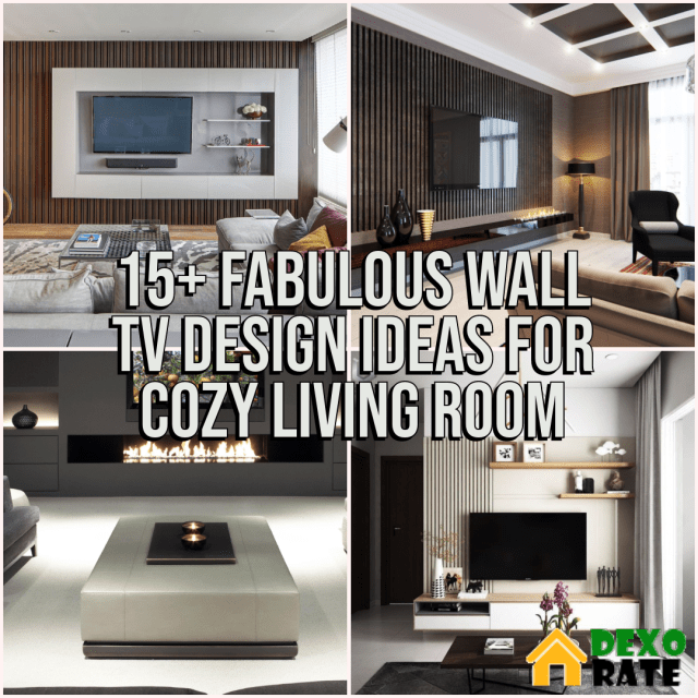 Living Room Wall TV Design Ideas