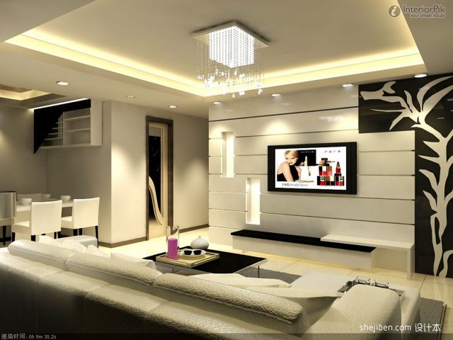 Living Room Wall TV Design