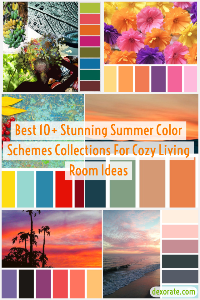 Stunning Summer Color Schemes Collections For Cozy Living Room Ideas