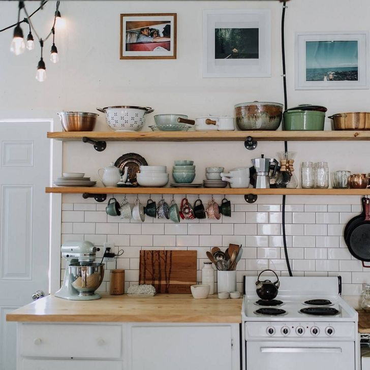 Awesome DIY Kitchen Shelves Ideas