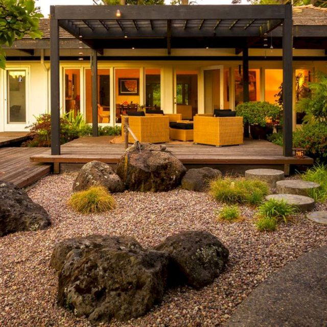 Modern Japanese Front Yard Landscaping Ideas
