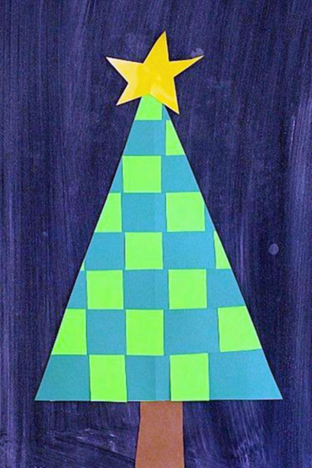 Use two sheets of paper in contrasting greens to make this DIY Christmas Tree. Kids will love to DIY this Christmas tree and will be delighted to know the results are installed as Christmas decorations at home.