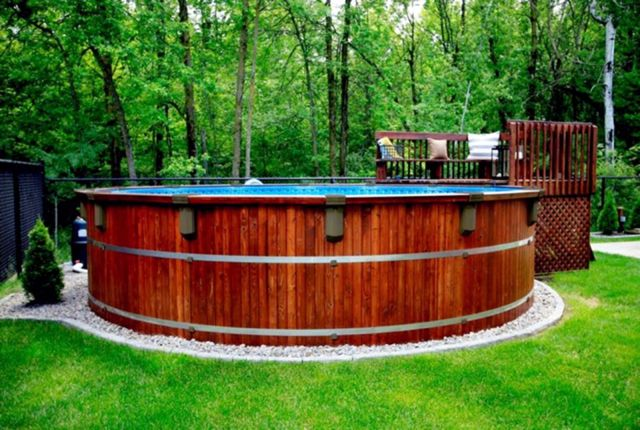 Large Plastic Rounded Stock Tank Pool