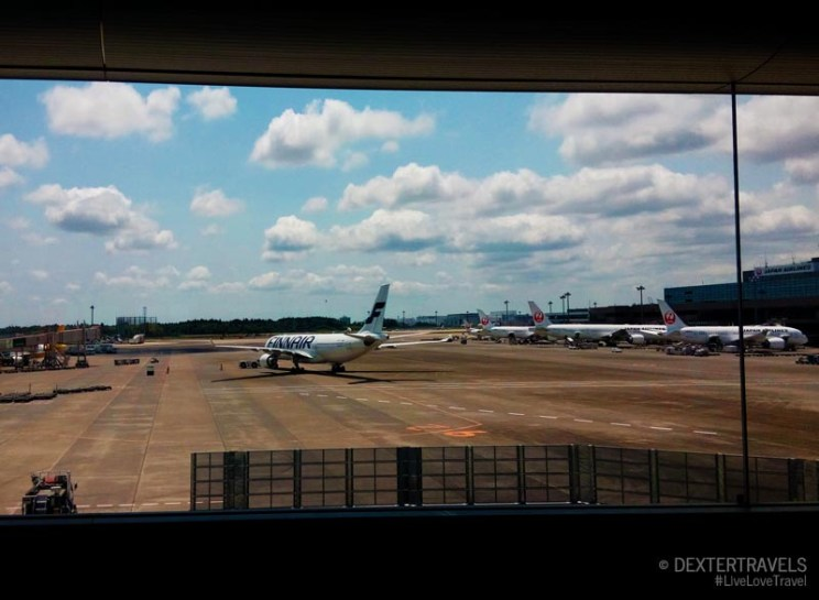 A magnificent view from the big glass window of the Narita International Airport.