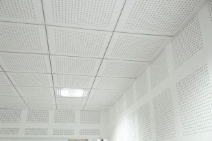 Perforated Gypsum Wall