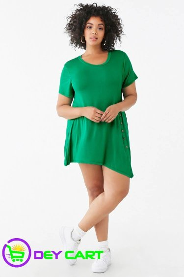 Forever21 Button Tunic - Green